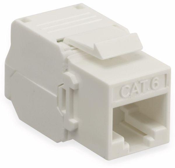 Einbau-Modul Red4Power KM-C6U-W, CAT.6, weiß - Produktbild 1