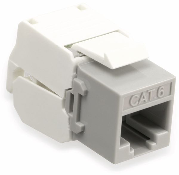 Einbau-Modul Red4Power KM-C6U-G, CAT.6, grau - Produktbild 1