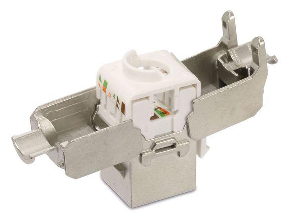 Einbau-Modul Red4Power KM-C6AG, CAT.6a, Metall - Produktbild 3