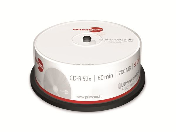 PRIMEON, CD-R, 80 Min, 700 MB, Cakebox (100 Disc)