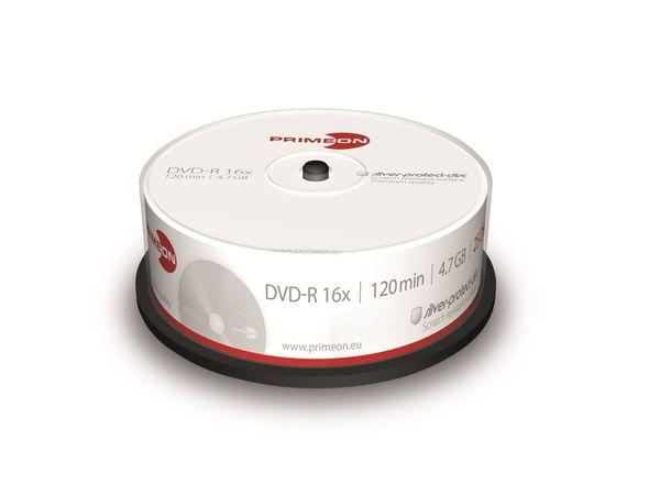 PRIMEON, DVD-R, 4,7 GB, 120 Min, Cakebox (25 Disc)