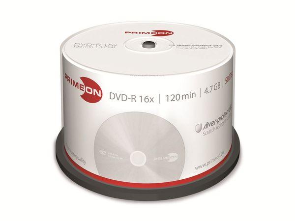 PRIMEON, DVD-R, 4,7 GB, 120 Min, Cakebox (50 Disc)