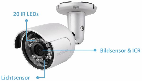HD-Netzwerk-Farbkamera EDIMAX IC-9110W, 720p, WLAN - Produktbild 18