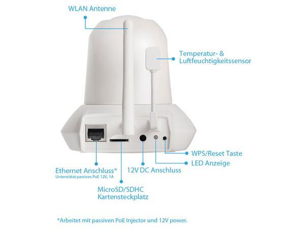 HD-Netzwerk-Farbkamera EDIMAX IC-7113W, 720p, WLAN, Pan/Tilt - Produktbild 4