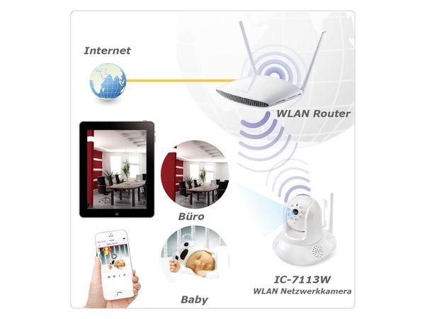 HD-Netzwerk-Farbkamera EDIMAX IC-7113W, 720p, WLAN, Pan/Tilt - Produktbild 9