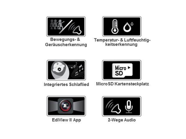 HD-Netzwerk-Farbkamera EDIMAX IC-7113W, 720p, WLAN, Pan/Tilt - Produktbild 14
