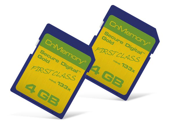 SD Card-Set CnMemory 133x, 2x 4 GB