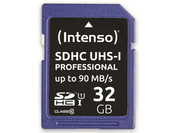 SDHC Card INTENSO 3431480, 32 GB, Class 10, UHS-I