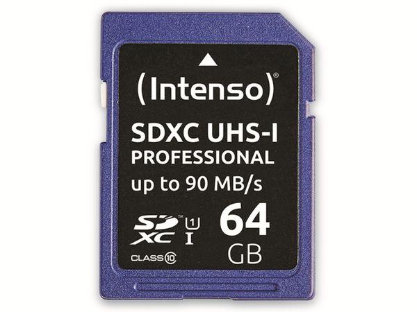 SDXC Card INTENSO 3431490, 64 GB, Class 10, UHS-I