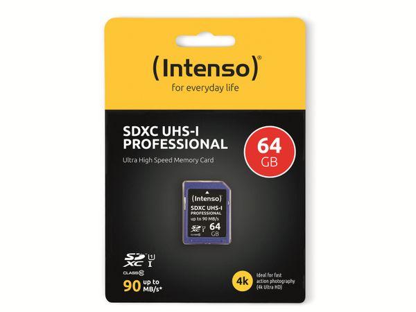 SDXC Card INTENSO 3431490, 64 GB, Class 10, UHS-I - Produktbild 2