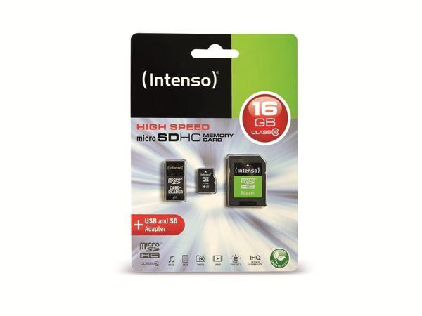 microSDHC Card INTENSO 3413760, 16 GB - Produktbild 3