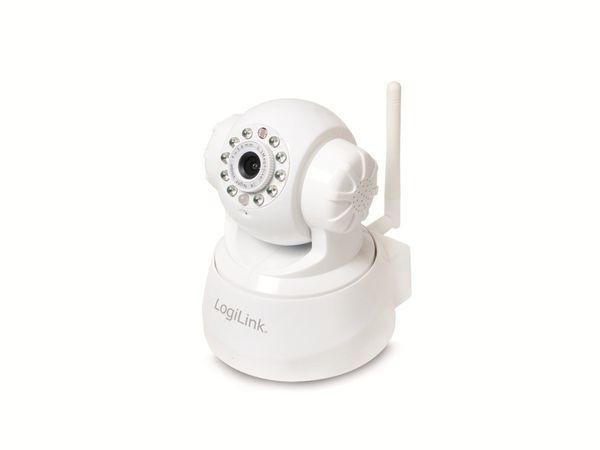 IP-Kamera LOGILINK WC0030W, Pan/Tilt, WLAN, weiß - Produktbild 1