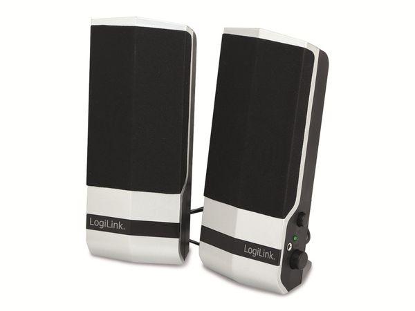 Computer-Lautsprecher LOGILINK SP0026, silber/schwarz, USB-Power, B-Ware