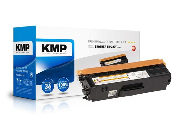 Toner KMP, kompatibel für Brother TN-320Y, gelb