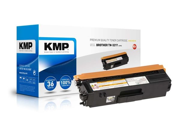 Toner KMP, kompatibel für Brother TN-321Y, gelb