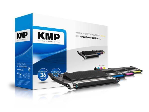 Toner KMP, kompatibel für CLT-K406C/ELS, schwarz, cyan, magenta, gelb