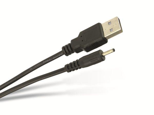 USB-Stromversorgungskabel, 2,5/0,75 mm