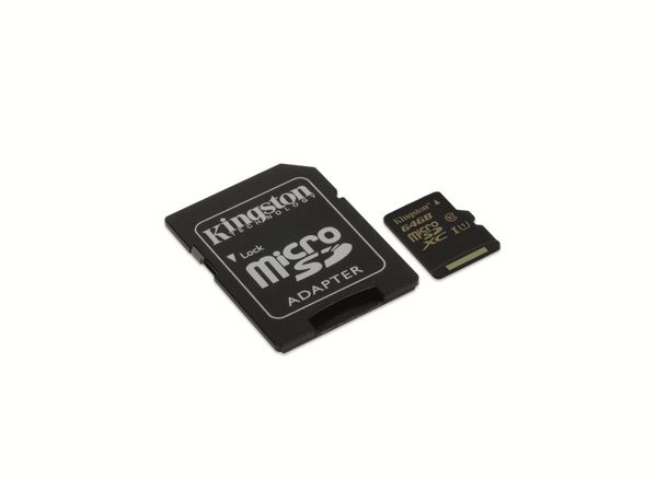MicroSDHC Card KINGSTON SDCA10/UHS-I 10, 64 GB