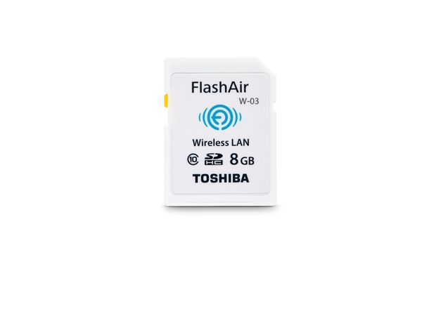 SDHC Card TOSHIBA FlashAir W-03, WLAN, 8 GB, Class 10, weiß