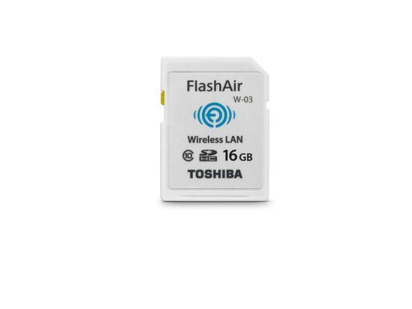 SDHC Card TOSHIBA FlashAir W-03, WLAN, 16 GB, Class 10, weiß