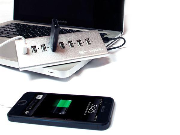 USB 2.0-Hub LOGILINK UA0225, 7-port, aktiv - Produktbild 3