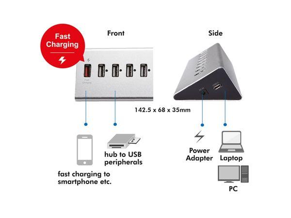 USB 2.0-Hub LOGILINK UA0225, 7-port, aktiv - Produktbild 4