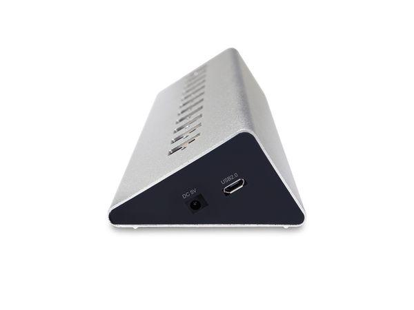 USB 2.0-Hub LOGILINK UA0226, 10-port, aktiv - Produktbild 2