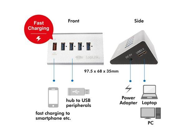 USB 3.0-Hub LOGILINK UA0227, 4-port, aktiv - Produktbild 4