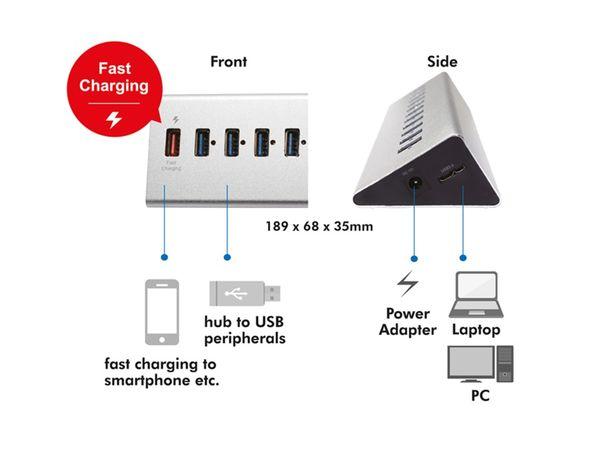USB 3.0-Hub LOGILINK UA0229, 10-port, aktiv - Produktbild 4