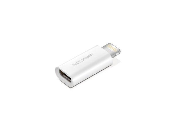 Lightning Adapter DELEYCON MK-MK435 für Apple, weiß
