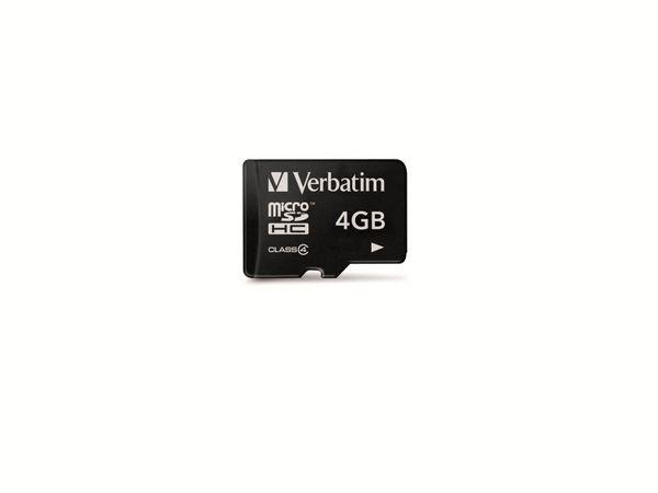 MicroSDHC Card, 4GB VERBATIM 43966, Class 4, 4 GB