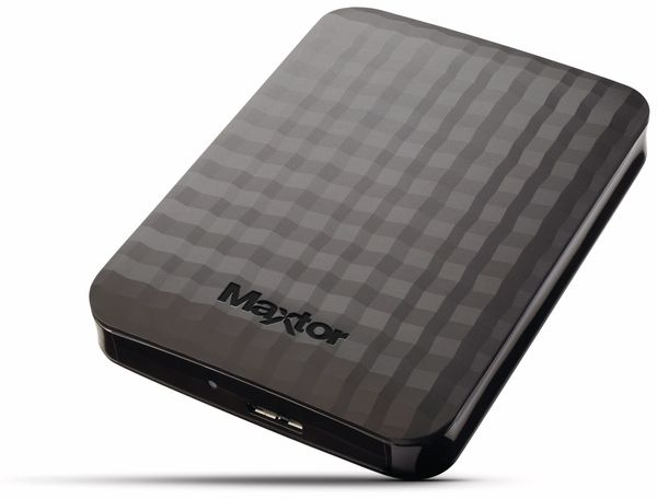 "USB 3.0 HDD MAXTOR M3 Station STSHX-M101TCBM, 1 TB, 6,35 cm (2,5"") - Produktbild 1"