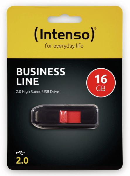 USB 2.0 Speicherstick INTENSO Business Line, 16 GB - Produktbild 2