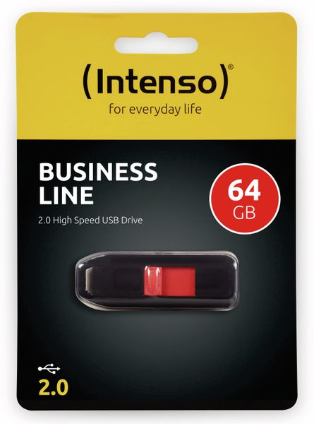 USB 2.0 Speicherstick INTENSO Business Line, 64 GB - Produktbild 2