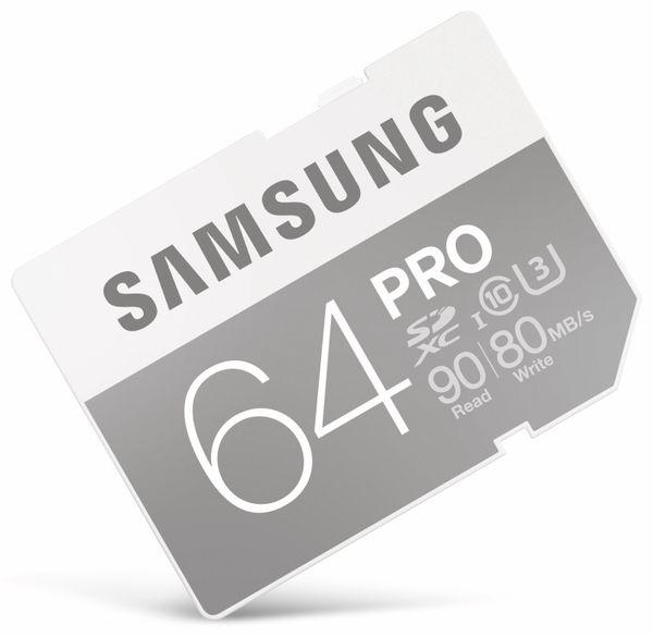 SDXC Speicherkarte SAMSUNG MB-SG64E/EU, UHS-1 U3, Class 10, 64 GB - Produktbild 1