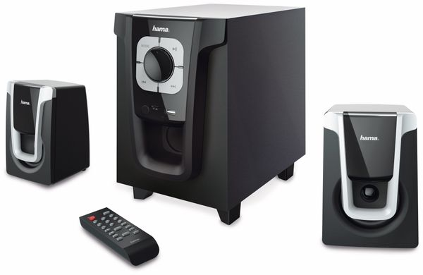 2.1 Sound-System HAMA PR-2120, 20 W, schwarz-silber