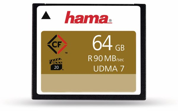 CompactFlash-Speicherkarte HAMA 108081, 64 GB, 90 MB/s