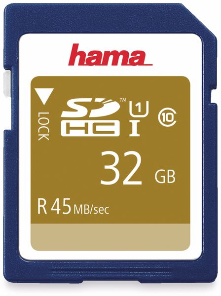 SDHC Card HAMA 114942, 32 GB, Class 10, UHS-I