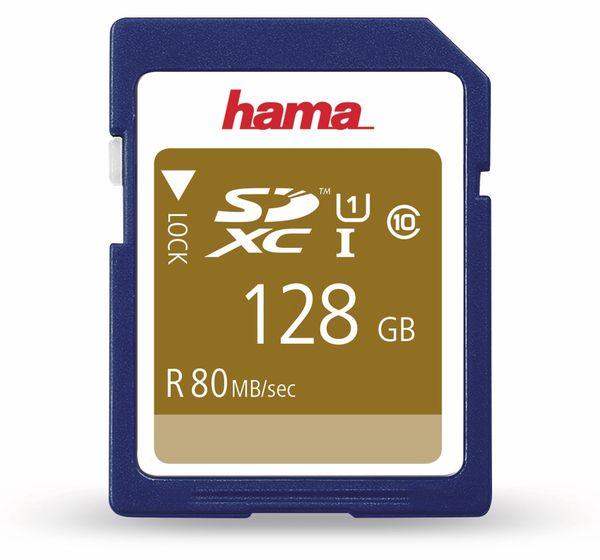 SDXC Card HAMA 124137, 128 GB, Class 10, UHS-I, 80 MB/s