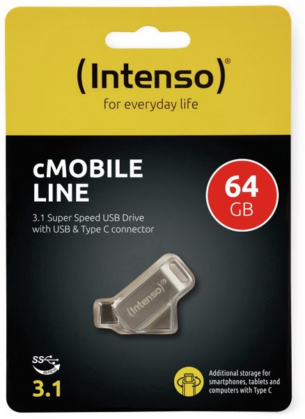 USB 3.0 Speicherstick INTENSO cMobile Line, USB Typ-C, 64 GB - Produktbild 2