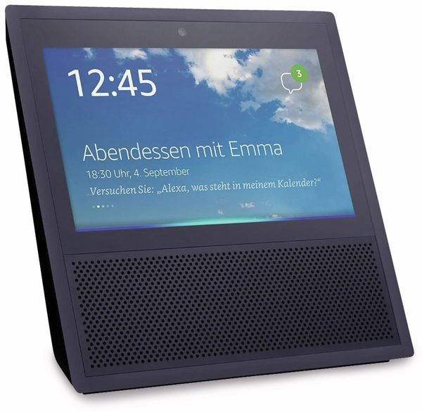 Sprachassistent AMAZON Echo Show, schwarz