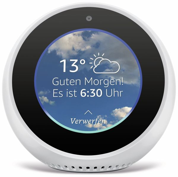 Sprachassistent AMAZON Echo Spot, weiß - Produktbild 2