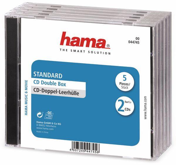 CD-Doppel-Leerhüllen, Standard, 5 Stück
