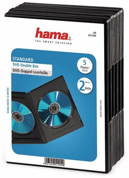 DVD-Doppel-Leerhüllen, Standard, 5 Sück, schwarz