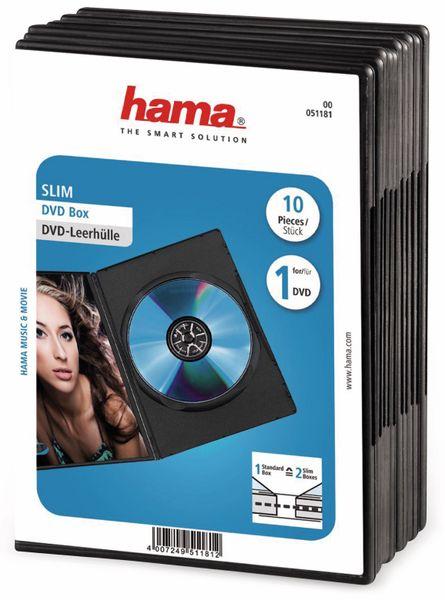 DVD-Leerhüllen, Slim, 10 Sück, schwarz