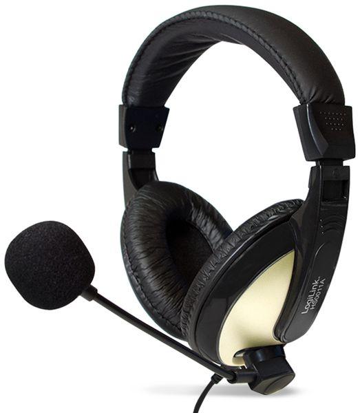 Headset LOGILINK HS0011A, 3,5 mm Klinkenstecker - Produktbild 1