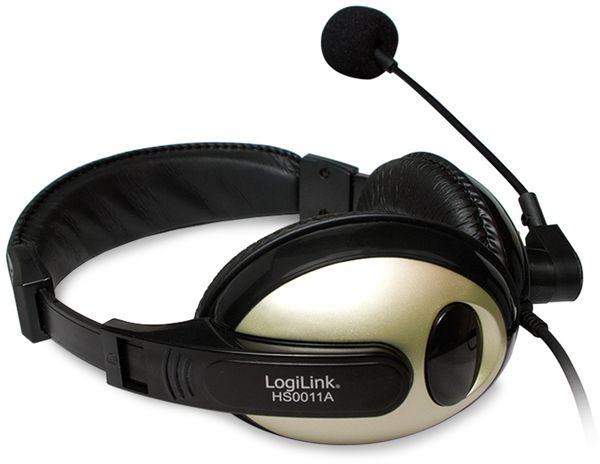 Headset LOGILINK HS0011A, 3,5 mm Klinkenstecker - Produktbild 2