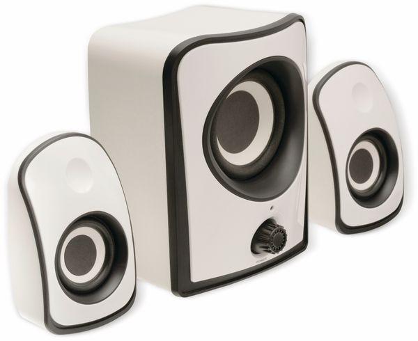 2.1 Stereo-Lautsprecher König CS21SPS100WH, weiß