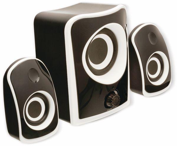 2.1 Stereo-Lautsprecher König CS21SPS100BL, schwarz