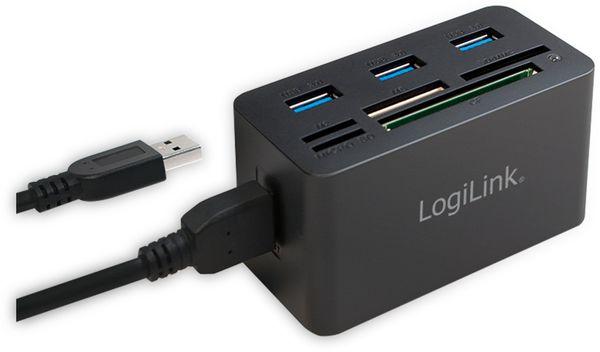 USB 3.0 Cardreader LOGILINK CR0042, 3x USB-A - Produktbild 2